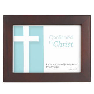 Christian Cross Confirmation Wood Keepsake Box