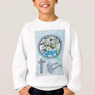 Christian Cross Forget-Me-Not Daisy Sweatshirt