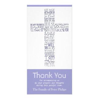 Christian Cross John 14:02 - Sympathy Thank You 6 Photo Card