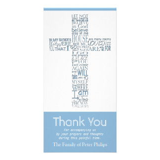 Christian Cross John 14:02 Sympathy Thank You 9 Card