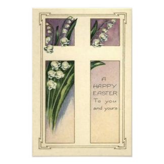 Christian Cross Lily Of The Valley Photo Art