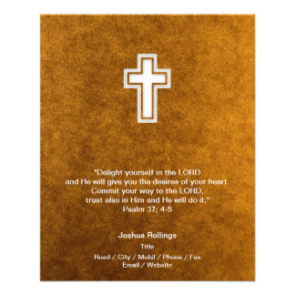 Christian Cross on gold background 11.5 Cm X 14 Cm Flyer