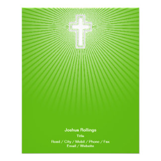 Christian Cross on green background Flyers