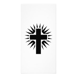 Christian cross picture card