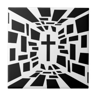 Christian Cross Small Square Tile