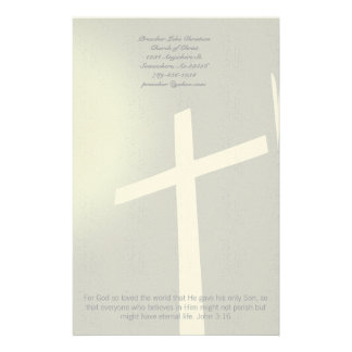 Christian Cross Stationery On Grey