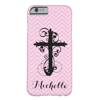 Christian Cross Swirling Design Custom iPhone Barely There iPhone 6 Case