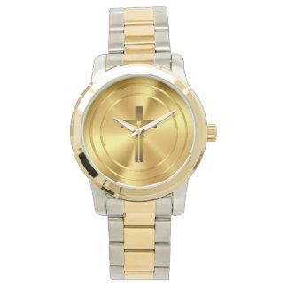 Christian Cross Symbol | gold Watch