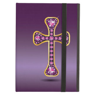 "Christian Cross with ""Garnet"" Stones Case For iPad Air"