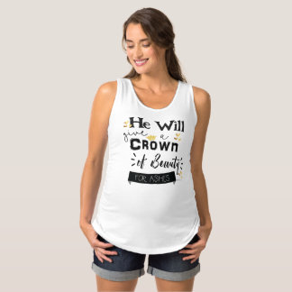 Christian Crown of Beauty For Ashes Maternity Singlet