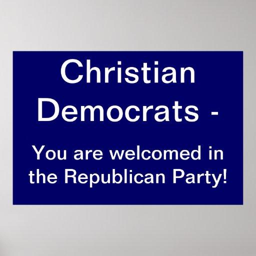 Christian Democrats Poster