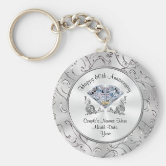 Christian Diamond 60th Anniversary Party Favors Key Ring