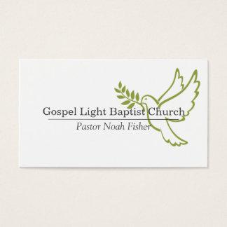 Christian Dove Pastor Christianity Card