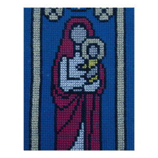 Christian embroidery personalized flyer