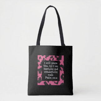 Christian Faith Psalm 139:14 Bible Verse Tote Bag