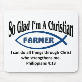 Christian Farmer Mouse Pad