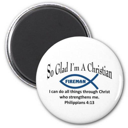 Christian Fireman Fridge Magnets