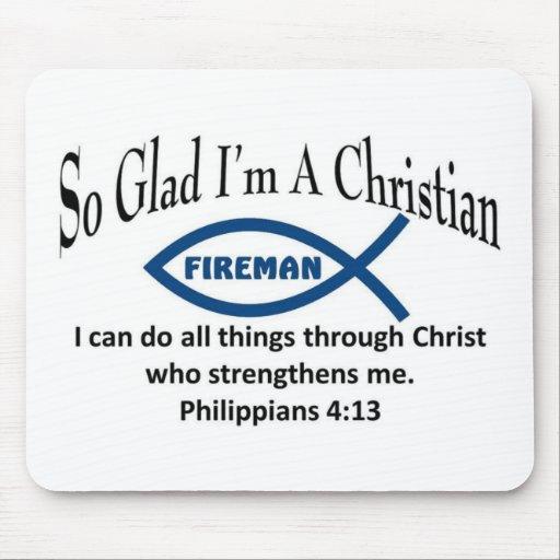 Christian Fireman Mousepads