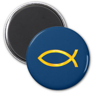 Christian Fish 6 Cm Round Magnet