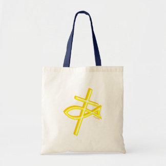 Christian Fish and cross gift design Tote Bag