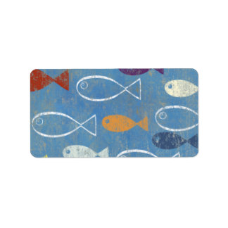 Christian Fish Art Address Label