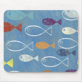 Christian Fish Art Mousepads