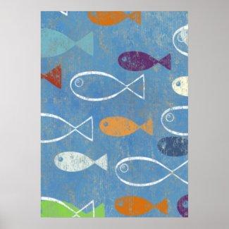 Christian Poster: Christian Fish Art