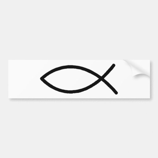 Christian Fish Car Bumper Sticker