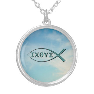 Christian Fish - Jesus Fish Silver Plated Necklace