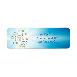 Christian Fish Return Address Label