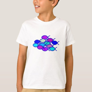 Christian Fish School - Purple and Blue T-shirts