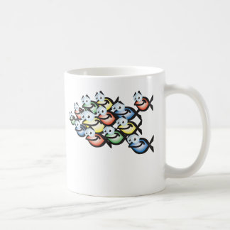christian fish shape coffee mug