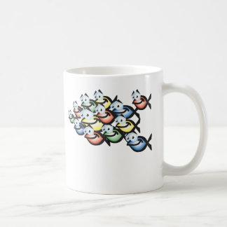 christian fish shape basic white mug