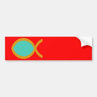 Christian Fish Symbol Bumper Stickers