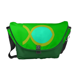 Christian Fish Symbol Courier Bag