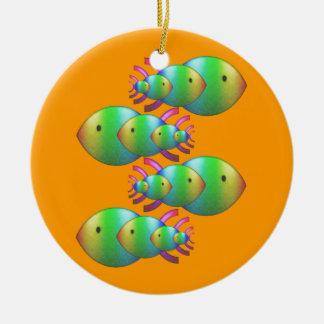 Christian Fish Symbol Families Round Ceramic Decoration