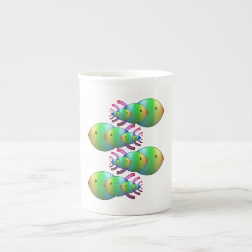Christian Fish Symbol Families Porcelain Mug