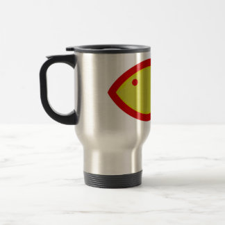 Christian Fish Symbol - Gold with Red Mug