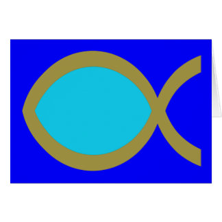 Christian Fish Symbol Greeting Card