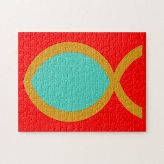Christian Fish Symbol Jigsaw Puzzle