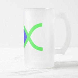 Christian Fish Symbol - LOUD! Blue and Green Coffee Mug