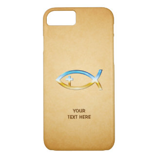 Christian Fish Symbol on vintage papirus iPhone 8/7 Case