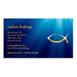 Christian Fish Symbol Pack Of Standard Business Cards