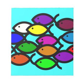 Christian Fish Symbols - Rainbow School - Scratch Pad