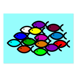 Christian Fish Symbols - Rainbow School - Pack Of Chubby Business Cards
