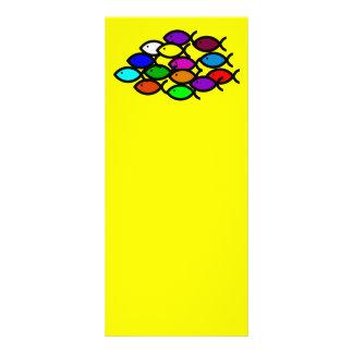 Christian Fish Symbols - Rainbow School - Personalized Rack Card