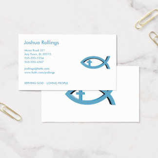 Christian Fish with Cross  | Share your Faith Business Card
