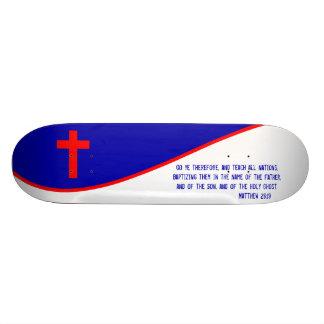 Christian Flag Inspired Skateboard