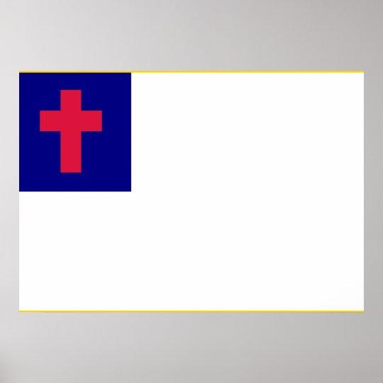 Christian Flag Poster