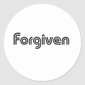 Christian Forgiven Design Round Sticker